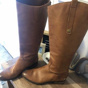 Sam Edelman Womens Penny Whiskey Leather Boots